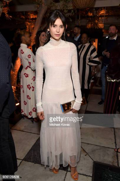 Nina Dobrev celebrates with Belvedere Vodka at Vanity Fair and Lancome Paris Toast Women in Hollywood hosted by Radhika Jones and Ava DuVernay on...