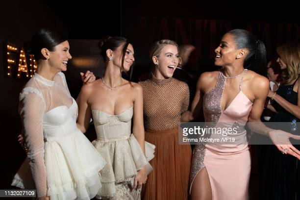Nina Dobrev Emily Ratajkowski Julianne Hough and Ciara attend the 2019 Vanity Fair Oscar Party hosted by Radhika Jones at Wallis Annenberg Center for...