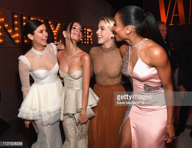 Nina Dobrev Emily Ratajkowski Julianne Hough and Ciara attends the 2019 Vanity Fair Oscar Party hosted by Radhika Jones at Wallis Annenberg Center...