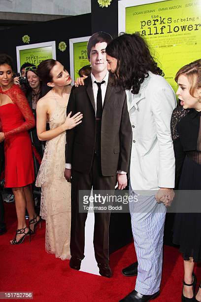 Nina Dobrev Emma Watson Ezra Miller and Mae Whitman attends The Perks Of Being A Wallflower Los Angeles premiere held at the ArcLight Cinemas...
