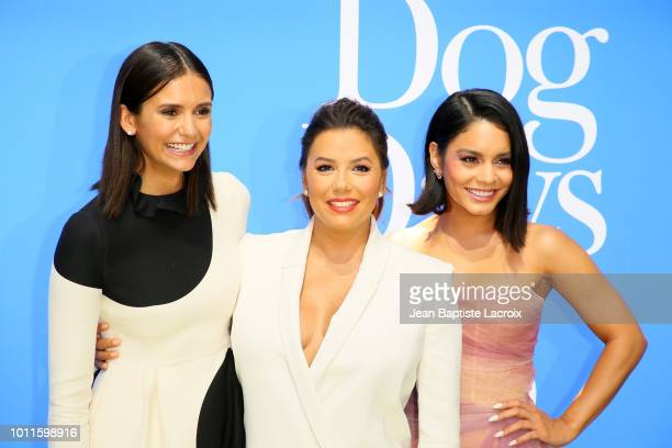 Nina Dobrev Eva Longoria and Vanessa Hudgens attend the premiere of LD Entertainment's 'Dog Days' at Westfield Century City on August 5 2018 in...