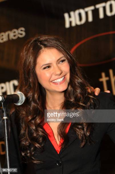 Nina Dobrev from The Vampire Diaries visits Hot Topic at Garden State Plaza on January 30 2010 in Paramus New Jersey