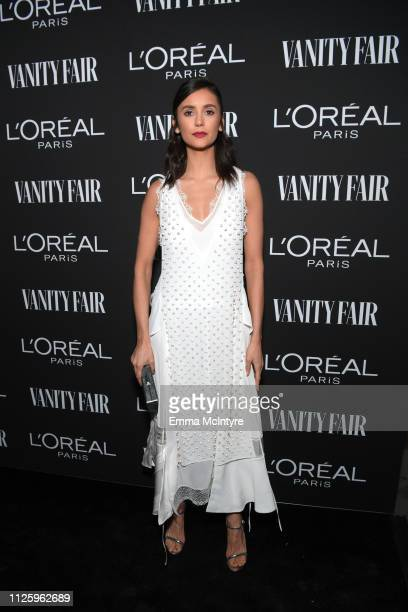 Nina Dobrev is seen as Vanity Fair and L'Oréal Paris Celebrate New Hollywood on February 19 2019 in Los Angeles California
