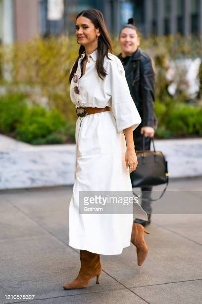 Nina Dobrev is seen in Midtown on March 05 2020 in New York City