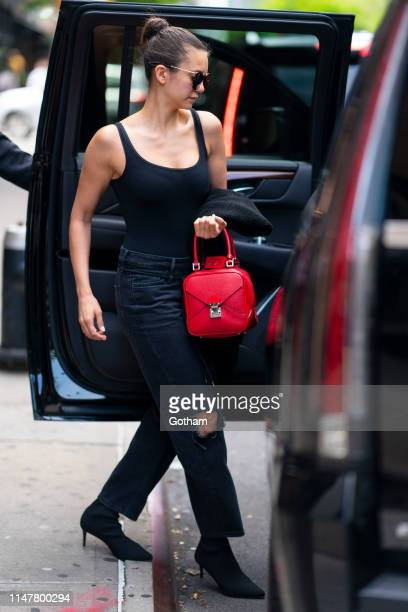 Nina Dobrev is seen in Tribeca on May 08 2019 in New York City
