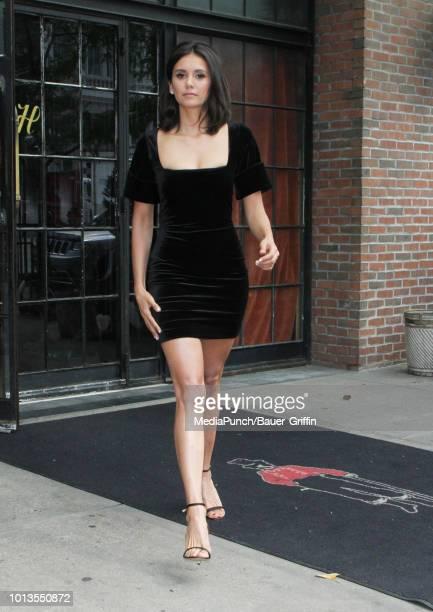 Nina Dobrev is seen on August 08 2018 in New York City