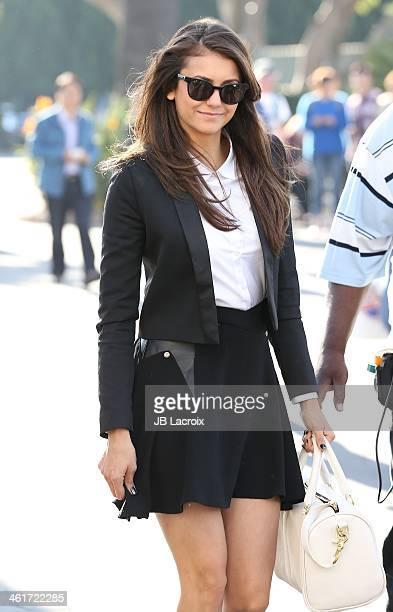 Nina Dobrev is seen on January 10 2014 in Los Angeles California
