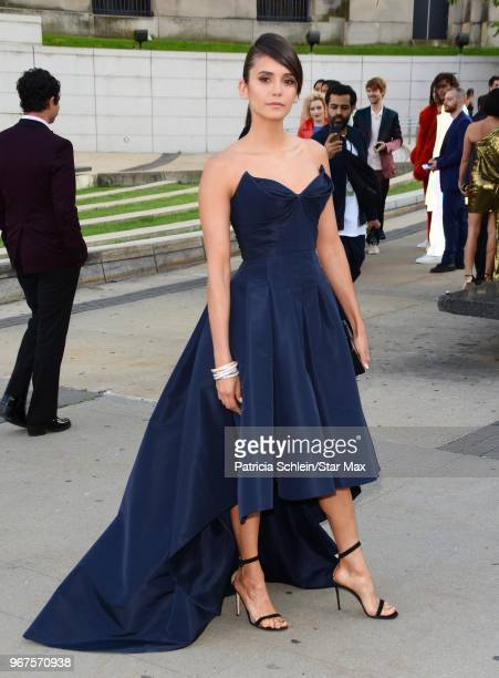 Nina Dobrev is seen on June 4 2018 at the 2018 CFDA Fashion Awards in New York City