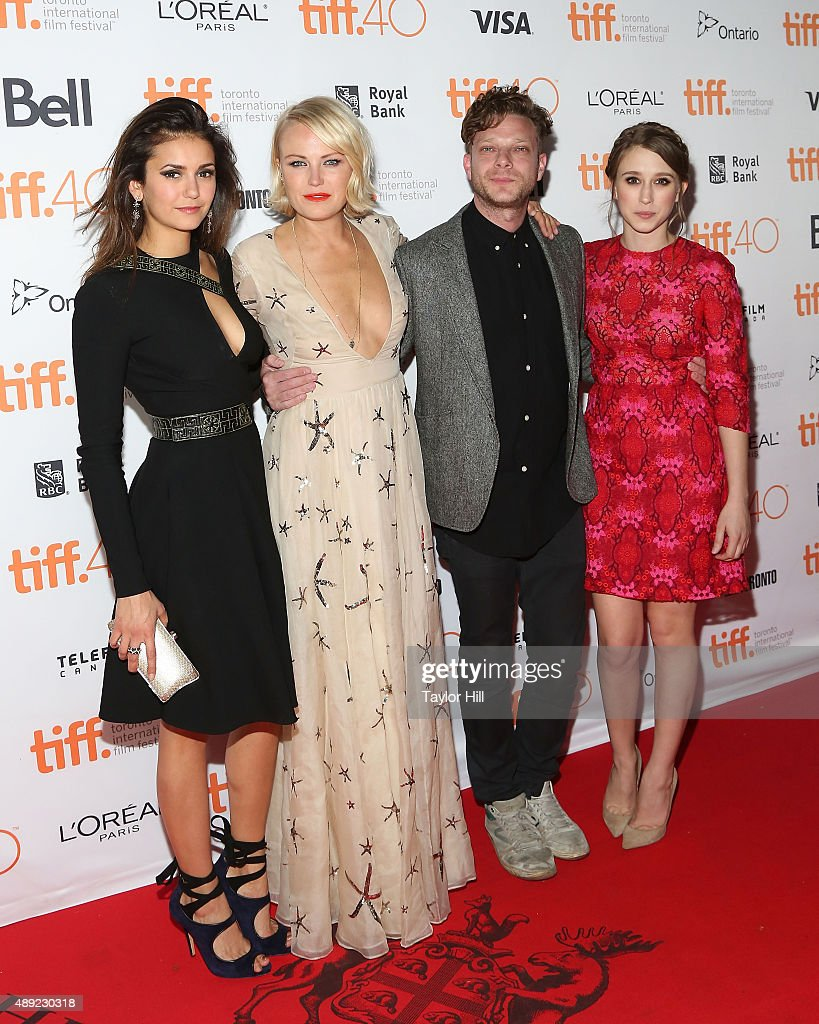 Nina Dobrev, Malin Akerman, Todd Strauss-Schulson, and Taissa Farmiga attend the premiere of 'The Final Girls' at Ryerson Theatre during the 2015 Toronto International Film Festival on September 19, 2015 in Toronto, Canada.