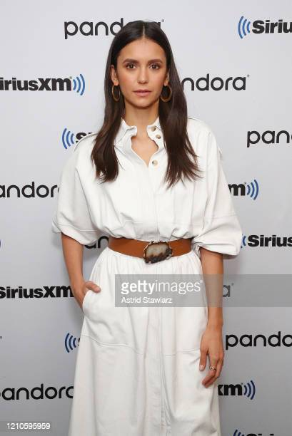 Nina Dobrev visits the SiriusXM Studios on March 05 2020 in New York City