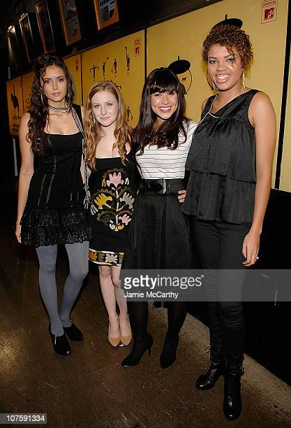 Nina DobrevCharlotte Arnold Cassie Steele Sarah BarrableTishauer of Degrassi visit MTV's TRL at the MTV studios in Times Square on October 14 2008 in...
