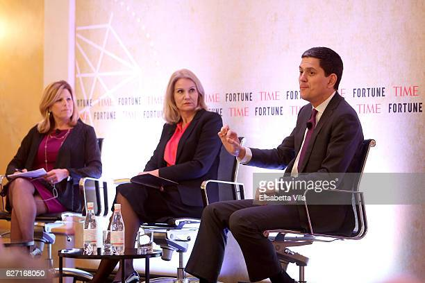 Nina Easton Cochair of Fortune/Time Global Forum and Chair of Fortune Most Powerful Women International Helle ThorningSchmidt Former Prime Minister...