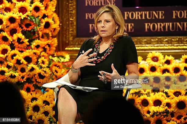 Nina Easton speaks onstage at the Fortune Most Powerful Women Summit 2016 at RitzCarlton Laguna Niguel on October 18 2016 in Dana Point California