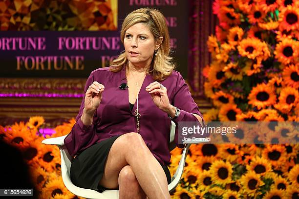 Nina Easton speaks onstage at the Fortune Most Powerful Women Summit 2016 at RitzCarlton Laguna Niguel on October 19 2016 in Dana Point California