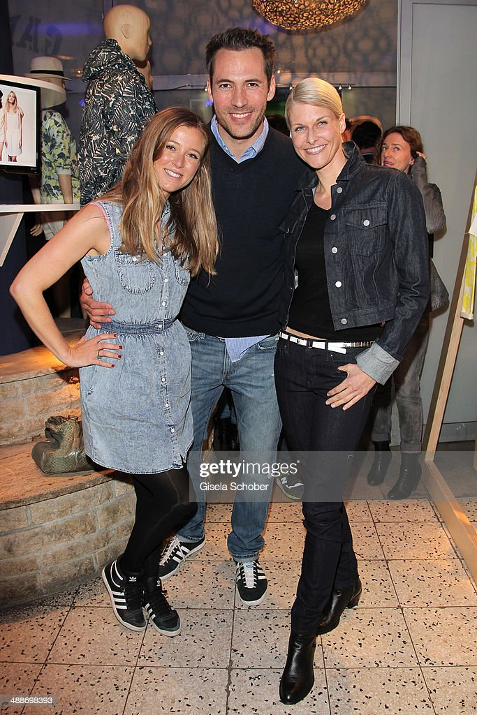Nina Eichinger, Alexander Mazza and Natascha Gruen attend the GAP Pop-Up Shop Opening on May 7, 2014 in Munich, Germany.