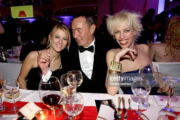 Nina Eichinger and father producer Bernd Eichinger and wife Katja Eichinger attend the 37th German Filmball 2010 at the Hotel Bayerischer Hof on...