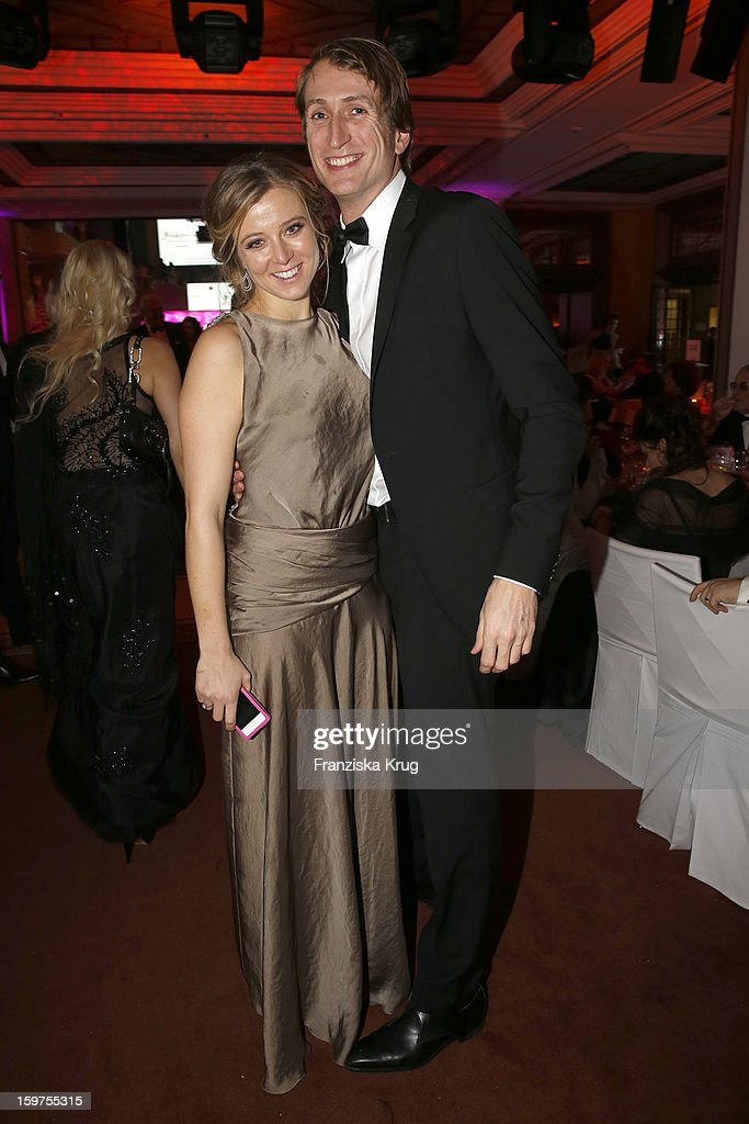 Nina Eichinger and Fritz Meinikat attend the Germany Filmball 2013 on January 19, 2013 in Munich, Germany.