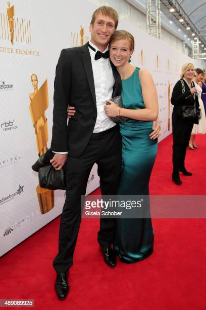 Nina Eichinger and her boyfriend Fritz Meinikat attend the Lola German Film Award 2014 at Tempodrom on May 9 2014 in Berlin Germany