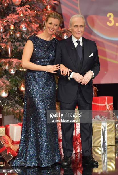 Nina Eichinger and Jose Carreras during the 24th Annual Jose Carreras Gala at Bavaria Studios on December 12 2018 in Munich Germany