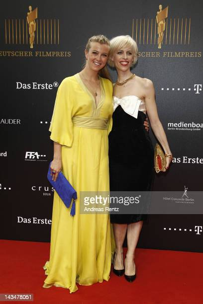 Nina Eichinger and Katja Eichinger attend the Lola German Film Award 2012 at FriedrichstadtPalast on April 27 2012 in Berlin Germany