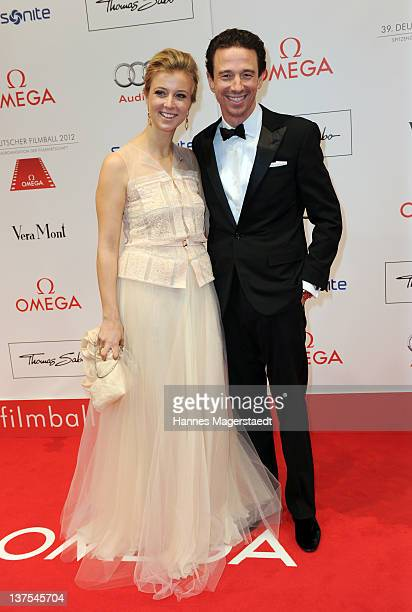 Nina Eichinger and Oliver Berben attend the German Filmball at the Hotel Bayerischer Hof on January 21 2012 in Munich Germany