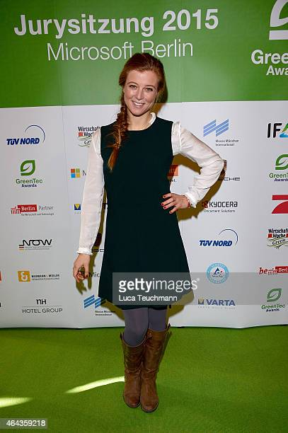 Nina Eichinger attends the GreenTec Awards Jury Meeting 2015 at Microsoft Berlin on February 25 2015 in Berlin Germany