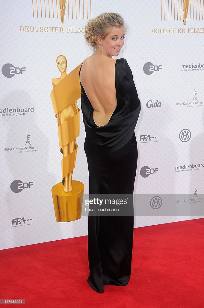 Nina Eichinger attends the Lola German Film Award 2013 at Friedrichstadtpalast on April 26, 2013 in Berlin, Germany.