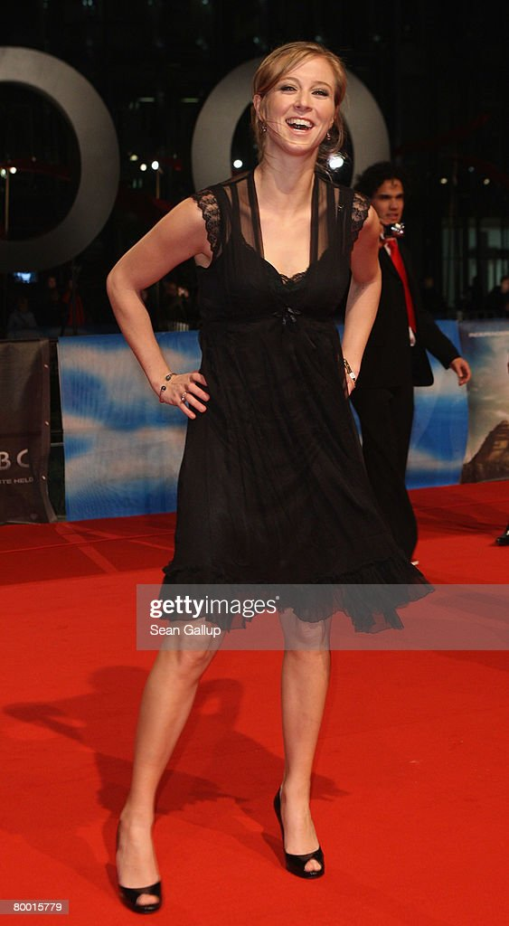 Nina Eichinger attends the world premiere of '10,000 B.C.' at the Sony Center CineStar on February 26, 2008 in Berlin, Germany.