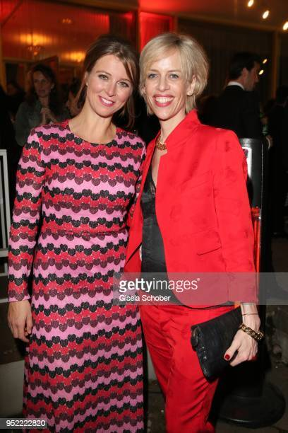Nina Eichinger daughter and Katja Eichinger widow of Bernd Eichinger during the Lola German Film Award party at Palais am Funkturm on April 27 2018...