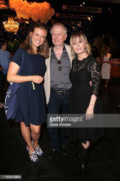 Nina Eichinger daughter of Bernd Eichinger and Director Wolfgang Petersen and his wife Maria BorgelPetersen during the Bavaria Film Reception One...