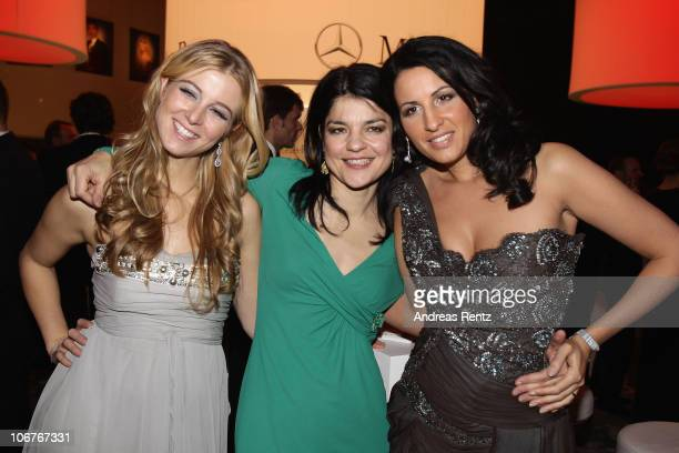 Nina Eichinger Jasmin Tabatabei and Minu BaratiFischer attend the Bambi 2010 Award After Show Party at Filmpark Babelsberg on November 11 2010 in...