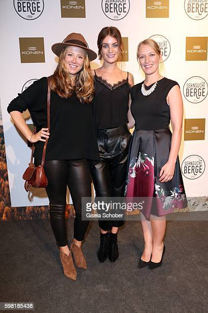 Nina Eichinger Model Milly Simmonds and Stefanie von Poser during the KONEN fall/winter season opening on August 31 2016 in Munich Germany