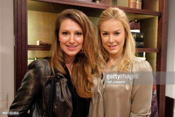 Nina Ensmann and Mara Bergmann attend the La Martina get together at their showroom on April 5 2017 in Duesseldorf Germany