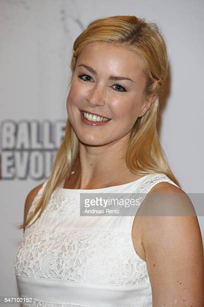 Nina Ensmann arrives for the Ballet Revolucion show premiere at the Philharmonie on July 13 2016 in Cologne Germany