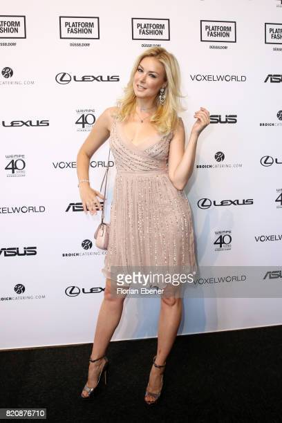 Nina Ensmann attends the 3D Fashion Presented By Lexus/Voxelworld show during Platform Fashion July 2017 at Areal Boehler on July 22 2017 in...