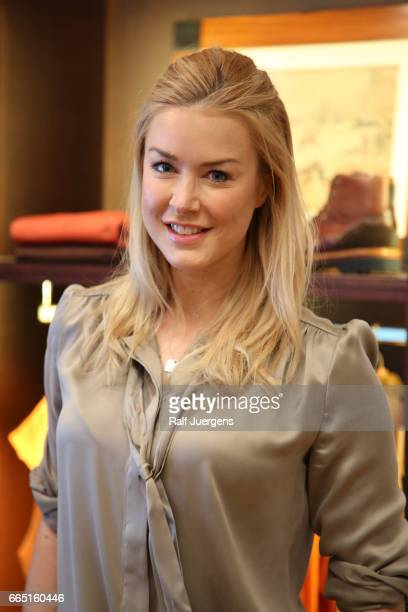 Nina Ensmann attends the La Martina get together at their showroom on April 5 2017 in Duesseldorf Germany