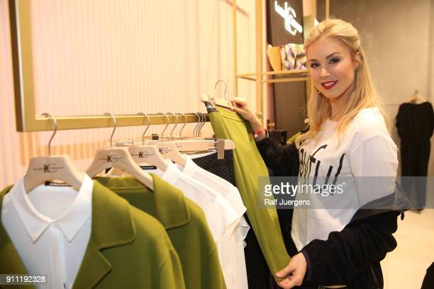 Nina Ensmann attends the opening of Luisa Cerano Flagship Store on January 27 2018 in Duesseldorf Germany