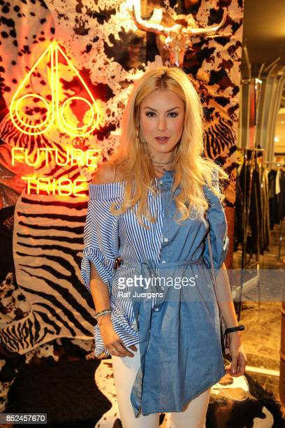 Nina Ensmann poses during the store event 'Moose Knuckles at Breuninger The Future Tribe Party' on September 23 2017 in Duesseldorf Germany