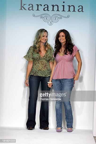 Nina Firestone and Kara Smith designers during MercedesBenz Spring 2006 LA Fashion Week at Smashbox Studios Karanina Runway at Smashbox Studios in...