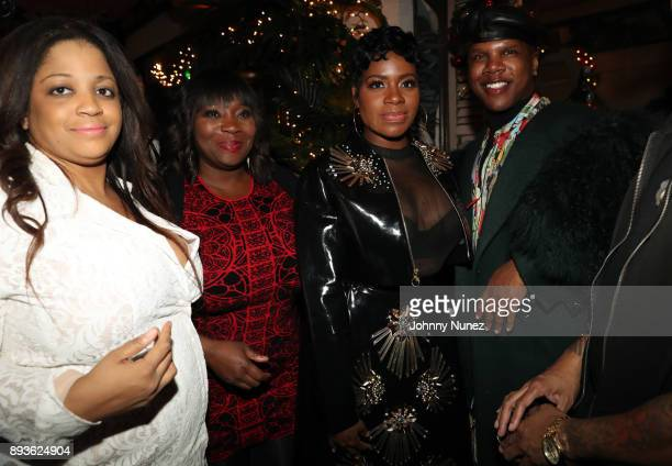 Nina Flowers Bevy Smith Fantasia Barrino and Miss Lawrence attend the Chez Lucienne Of Harlem Grand ReOpening and Fantasia's Christmas After Party at...