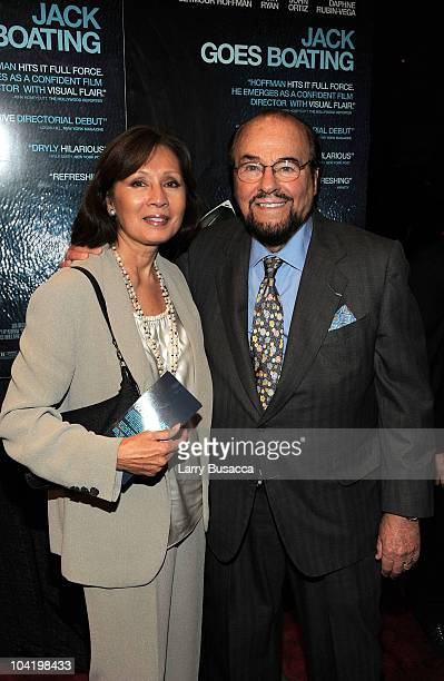 Nina Foch and James Lipton attend the premiere of Overture Films' Jack Goes Boating at Paris Theatre on September 16 2010 in New York City