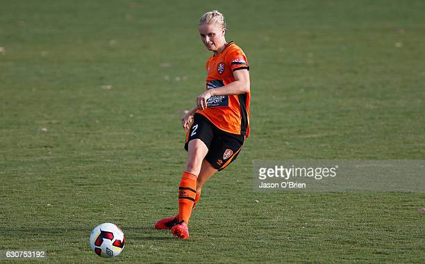 Nina FrausingPedersen of the Roar in action during the round 10 WLeague match between Brisbane and Melbourne at AJ Kelly Field on January 1 2017 in...
