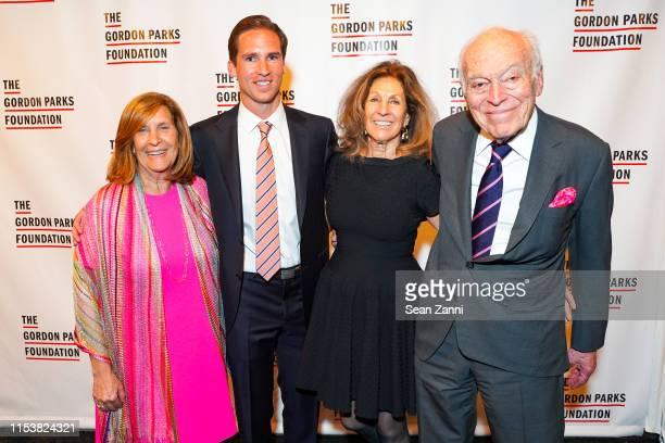 Nina Freedman, Peter Kunhardt Jr., Judy Glickman Lauder and Leonard A. Lauder attend The Gordon Parks Foundation 2019 Annual Awards Dinner And...