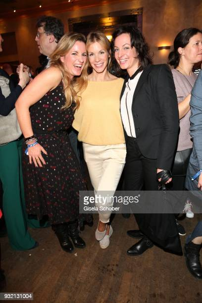 Nina Friederike Gnaedig and Dagny Dewath during the NdF after work press cocktail at Parkcafe on March 14 2018 in Munich Germany