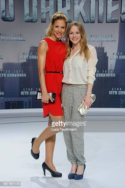 Nina Friederike Gnaedig and Jasmin Schwiers attend the 'Star Trek Into Darkness' German Premiere at CineStar on April 29 2013 in Berlin Germany