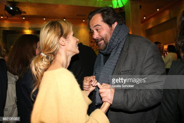 Nina Friederike Gnaedig and Martin Neuhaus during the NdF after work press cocktail at Parkcafe on March 14 2018 in Munich Germany