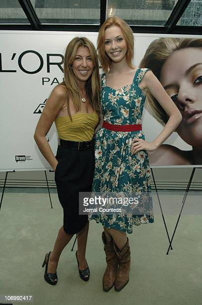 Nina Garcia and Amanda Fields during Elle Magazine and L'Oreal Paris Host the 'Get Runway Ready' Beauty Suite in Celebration of the 'Project Runway'...