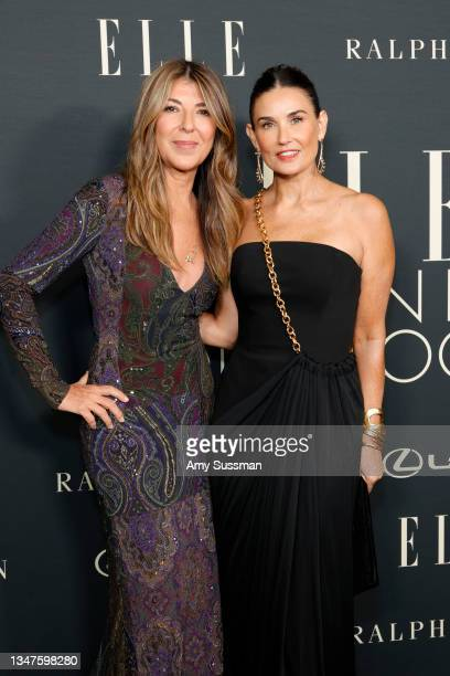 Nina Garcia and Demi Moore attend the 27th Annual ELLE Women in Hollywood Celebration at Dolby Terrace at the Academy Museum of Motion Pictures on...