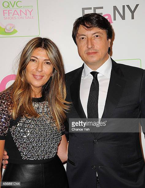 Nina Garcia and Gianvito Rossi attends the 2014 FFANY Shoes On Sale Gala at The Waldorf=Astoria on October 8 2014 in New York City