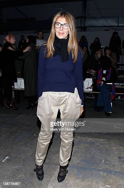 Nina Garcia attends the Alexander Wang fall 2012 fashion show at Pier 94 on February 11 2012 in New York City